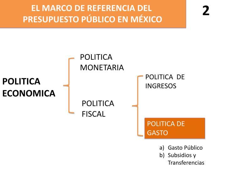 EL MARCO DE REFERENCIA DEL
