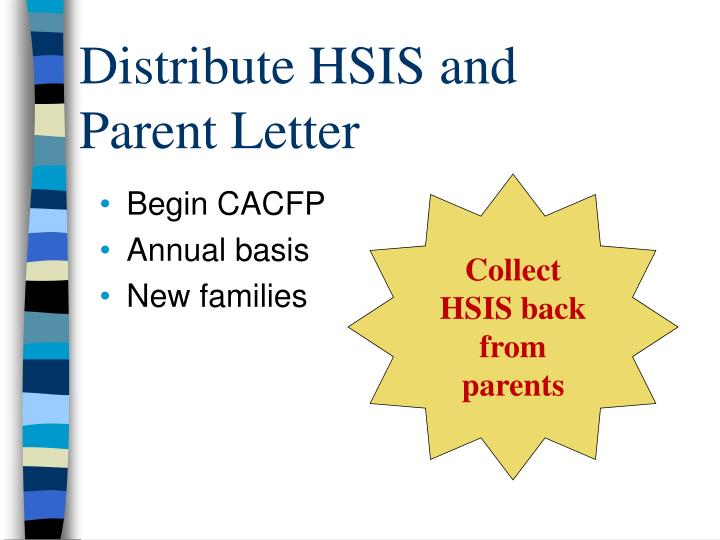 Distribute HSIS and