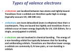 types of valence electrons