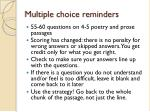 multiple choice reminders