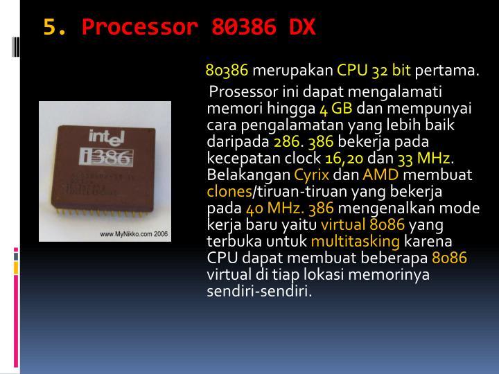 80386 microprocessor