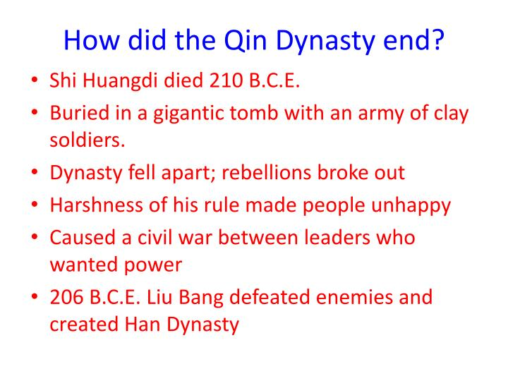 How did the Qin Dynasty end?
