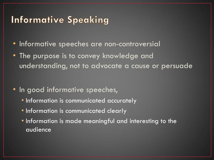 what is informative speaking