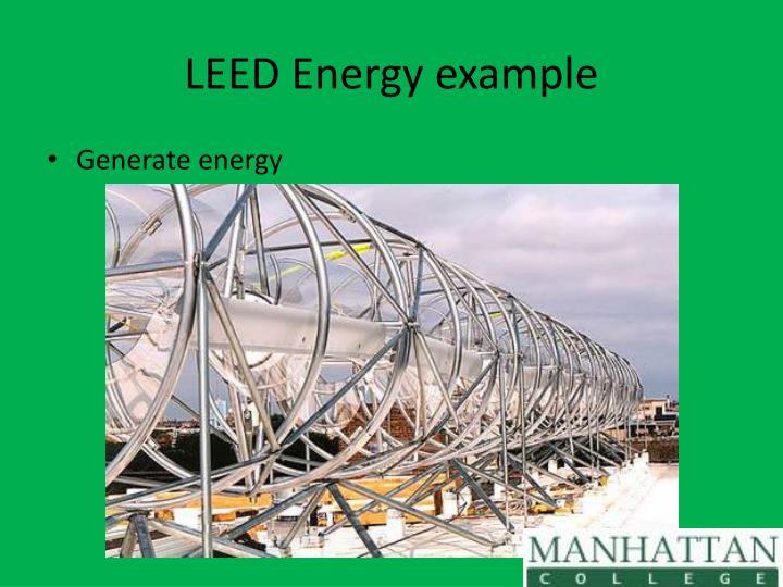 LEED Energy example