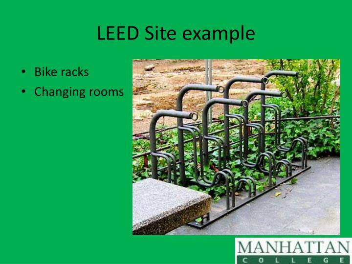 LEED Site example