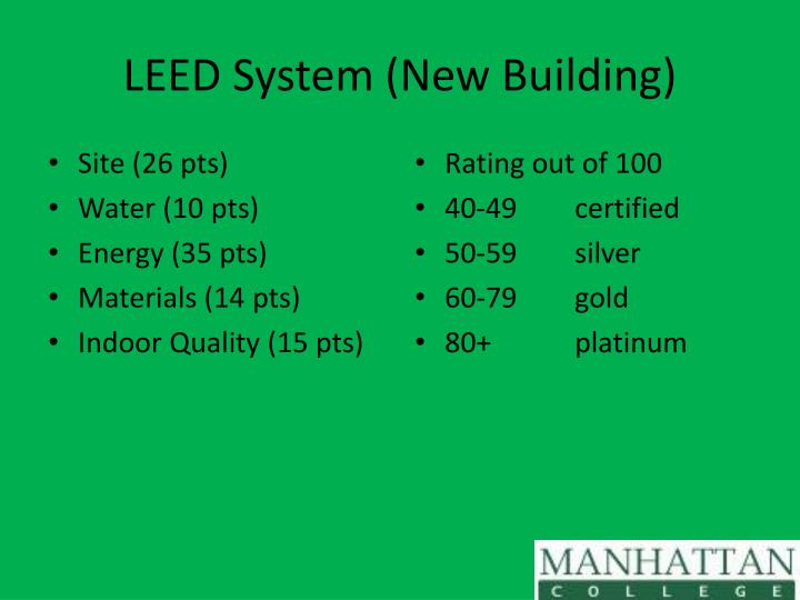 LEED System (New Building)