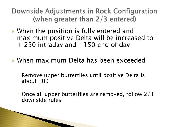 Downside Adjustments in Rock Configuration