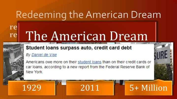 Redeeming the american dream1
