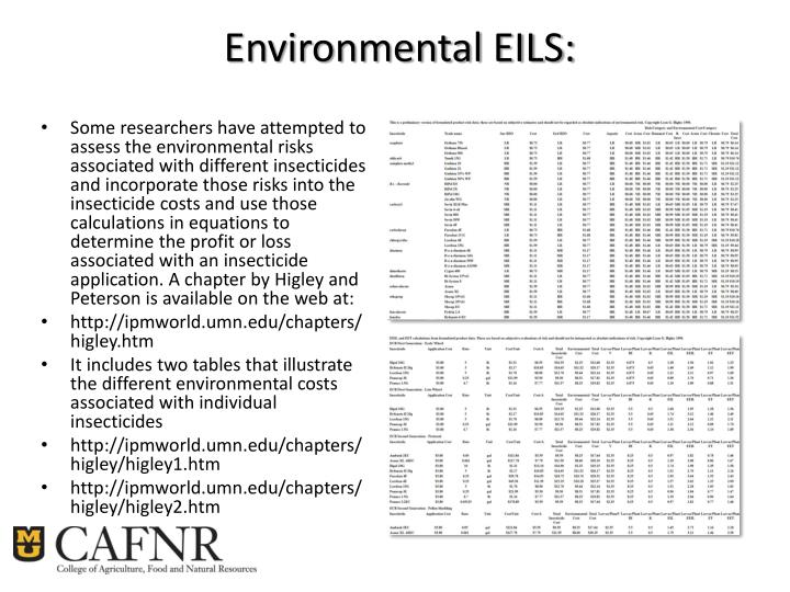 Environmental EILS:
