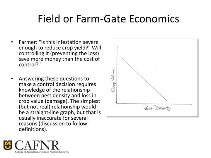 Field or Farm-Gate Economics