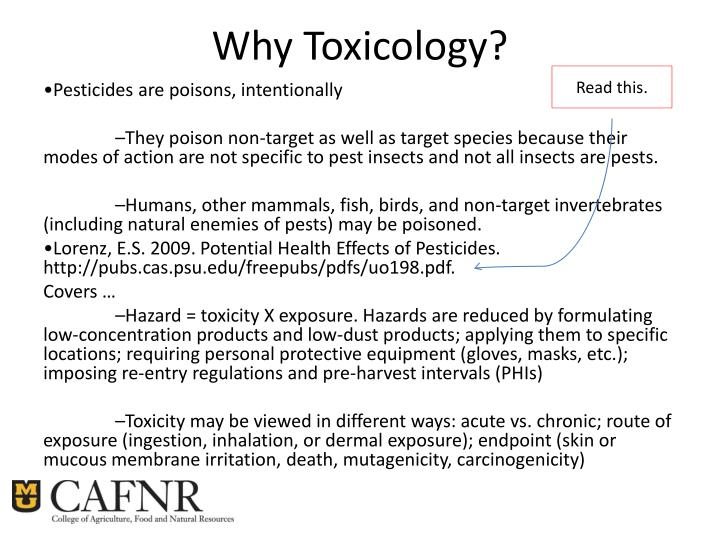 Why Toxicology?