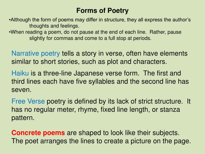 how has chaucer used poetic form Rhyme royal: the most common form of seven-line stanzas, rhyme royal is believed to have first been used by geoffrey chaucer in the canterbury tales the term rhyme royal most likely comes from the poet king of scotland who used rhyme royal extensively.
