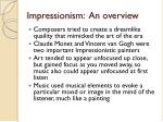 impressionism an overview