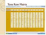 tone row matrix