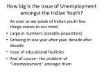 how big is the issue of unemployment amongst the indian youth