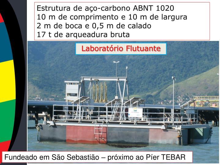 Estrutura de aço-carbono ABNT 1020