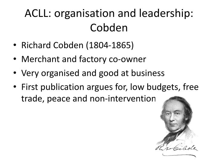 ACLL: organisation and leadership: