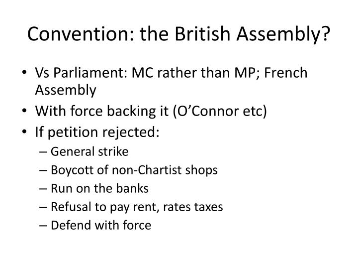 Convention: the British Assembly?