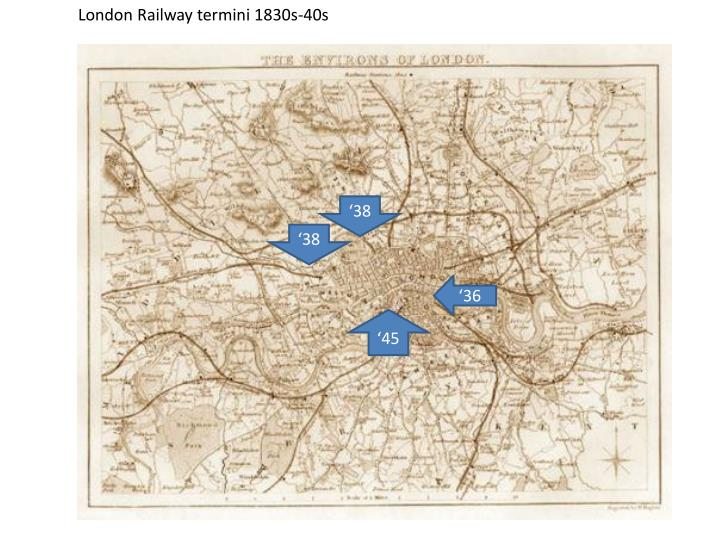 London Railway termini 1830s-40s