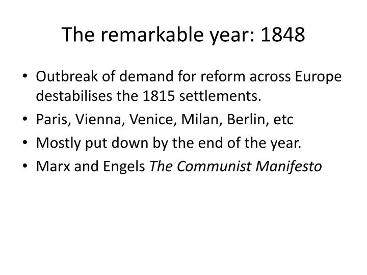 The remarkable year: 1848