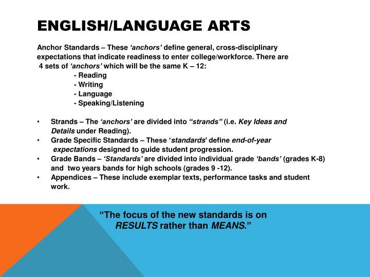 English/Language Arts
