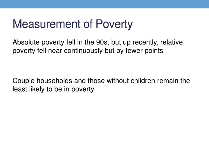 Measurement of Poverty