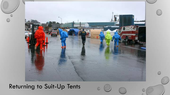 Returning to Suit-Up Tents