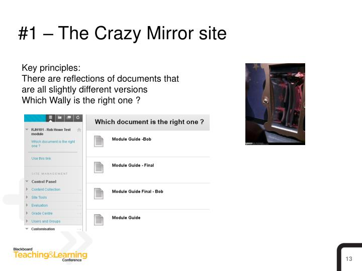 #1 – The Crazy Mirror site