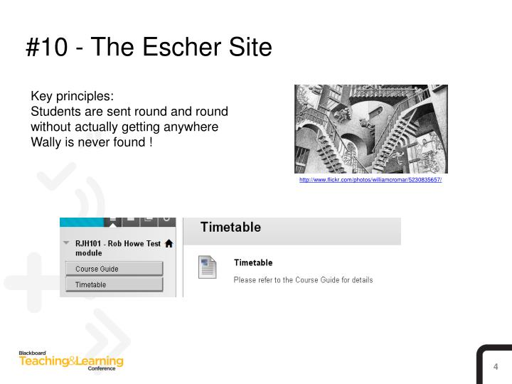 #10 - The Escher Site