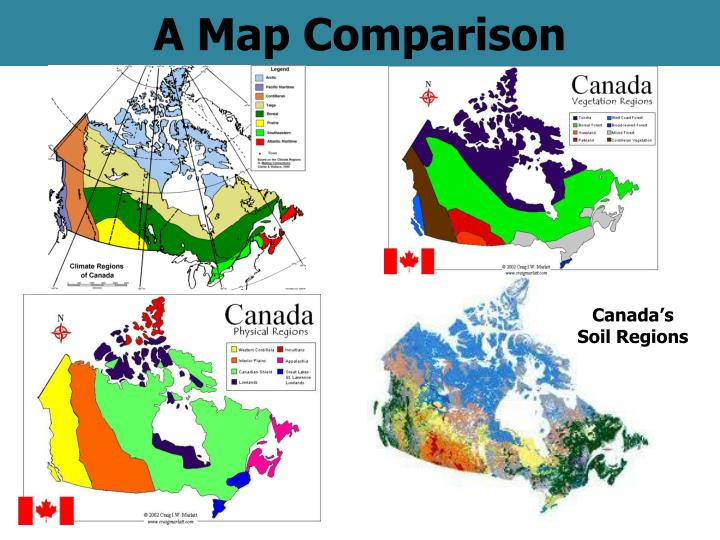 PPT   A Map Comparison PowerPoint Presentation   ID:2324565
