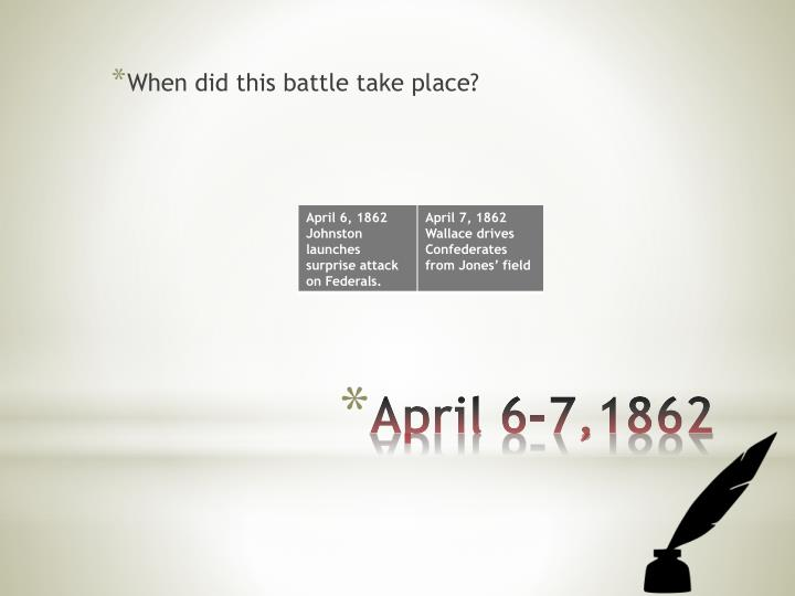 When did this battle take place?
