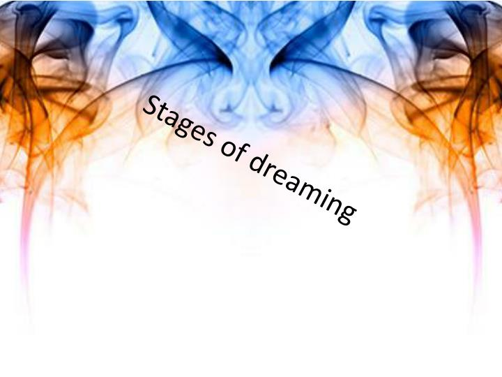 stages of dreaming n.