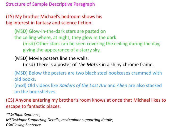 ️ how to write a topic sentence for a descriptive