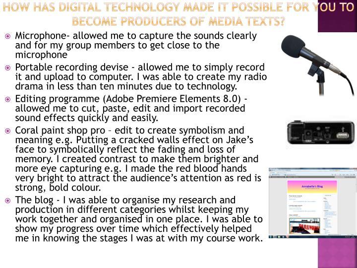 how has digital technology