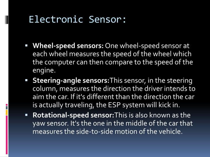 Electronic Sensor:
