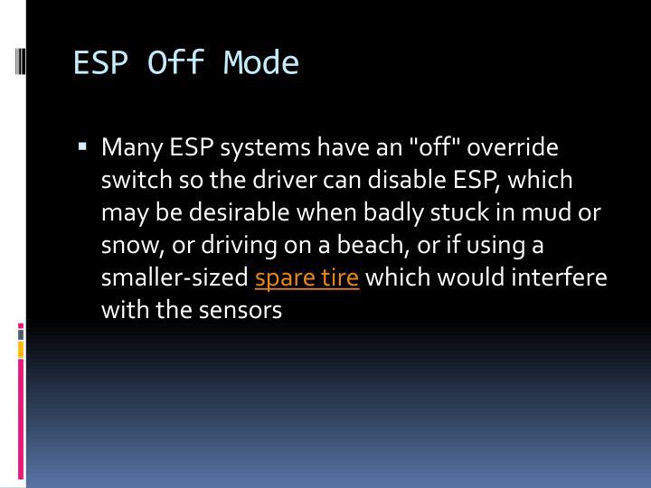 ESP Off Mode