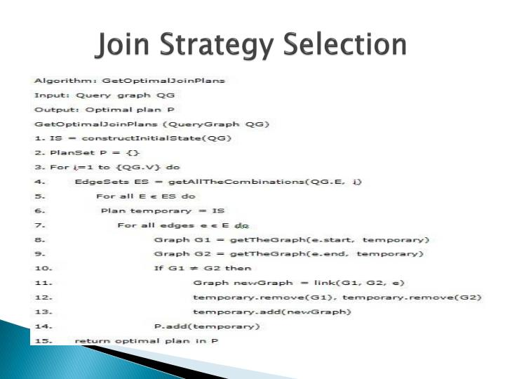 Join Strategy Selection