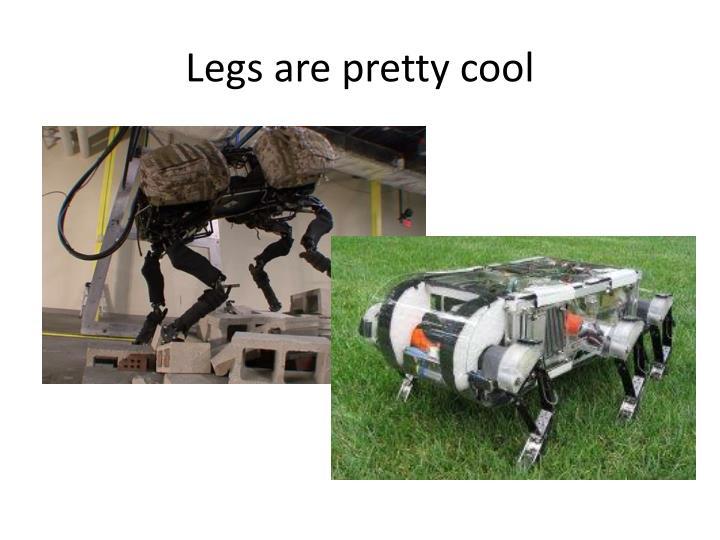 Legs are pretty cool