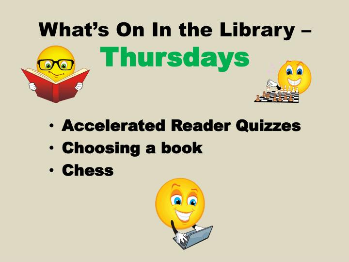 What's On In the Library –