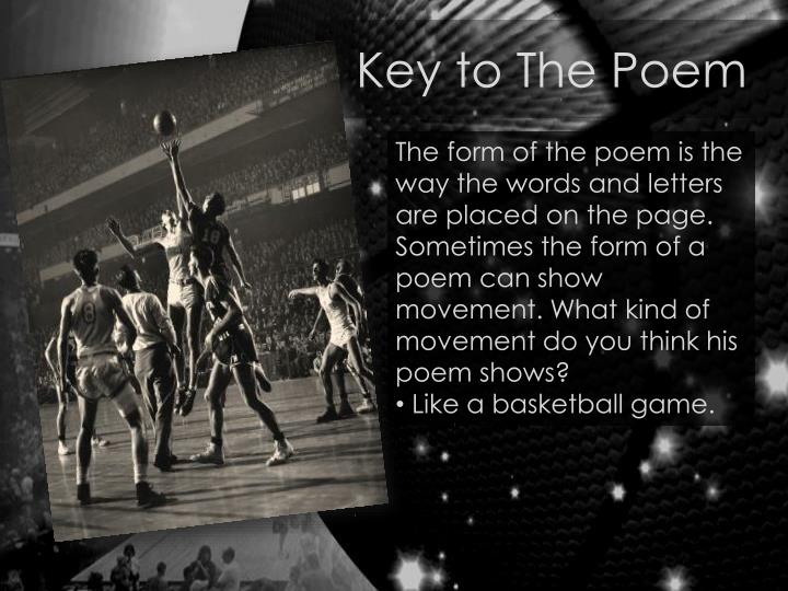 Key to The Poem