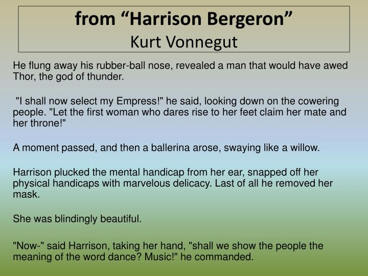 essay on harrison bergeron by kurt vonnegut