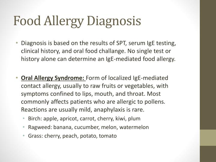 Food Allergy Diagnosis