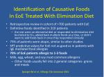 identification of causative foods in eoe treated with elimination diet