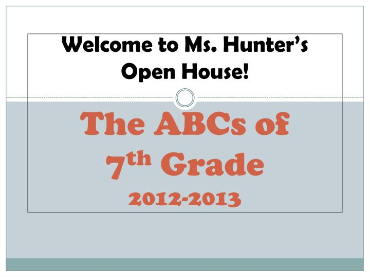 the abcs of 7 th grade 2012 2013 n.