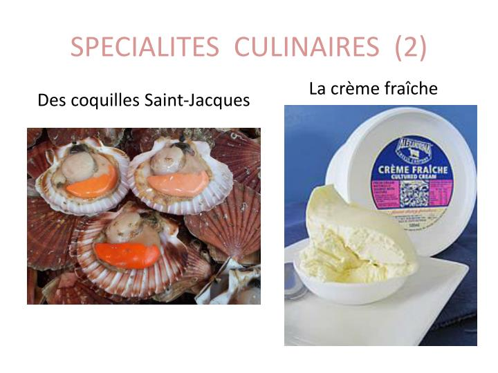 SPECIALITES  CULINAIRES  (2)