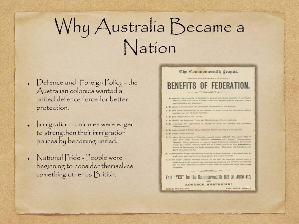 why australia became a federation essay