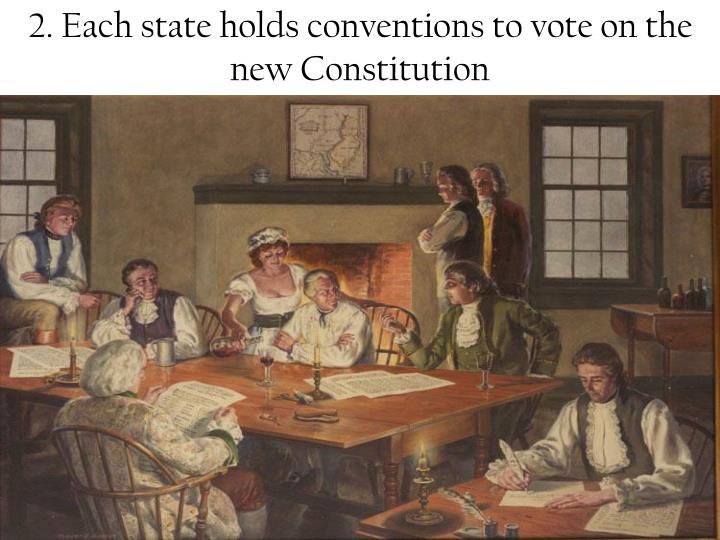 2. Each state holds conventions to vote on the new Constitution