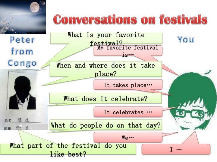Conversations on festivals