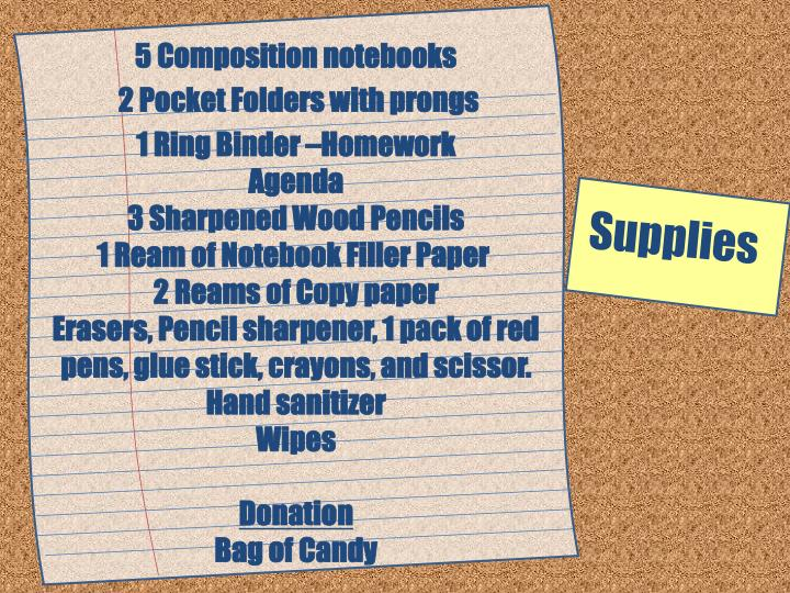 5 Composition notebooks