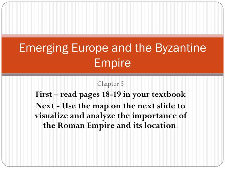 emerging europe and the byzantine empire n.